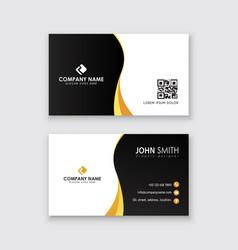 corporative business card template latest vector image