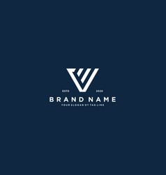 Creative letter v financial chart logo design vector