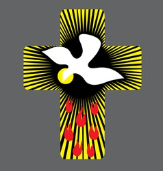 Cross with Holy spirit vector