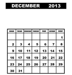 December calendar 2013 vector