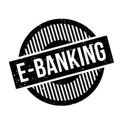 E-banking rubber stamp vector