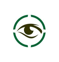eye vision logo icon vector image