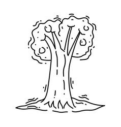 farming tree icon hand drawn icon set outline vector image