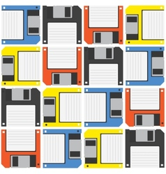 Floppy diskette pattern vector image