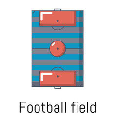 football field icon cartoon style vector image