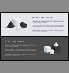 geometrical figures and text vector image