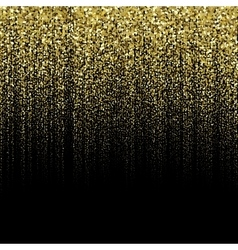 Golden particle background vector