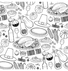 Graphic Thanksgiving day pattern vector