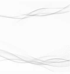 grey swoosh wave abstract stream line layout vector image