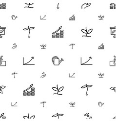 grow icons pattern seamless white background vector image