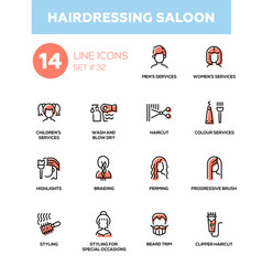 hairdressing saloon - modern single line vector image
