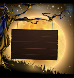 Halloween tree sign background vector