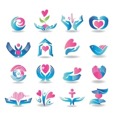 health care design elements vector image