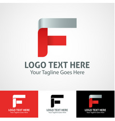 Hi-tech trendy initial icon logo f vector