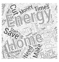 Home energy lll word cloud concept vector