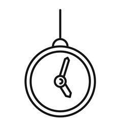 Hypnosis pendulum clock icon outline style vector