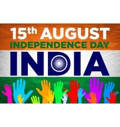 Independence day india 15th of august vector