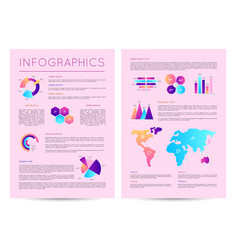 infographics brochure with various diagrams vector image