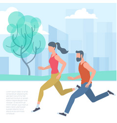 Jogging sport people vector