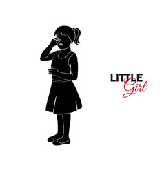 little child baby little girl crying vector image