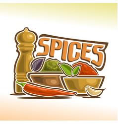 Logo spices vector