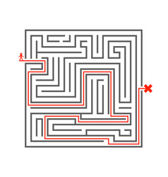 Man pass way intricacy labyrinth isometric maze vector