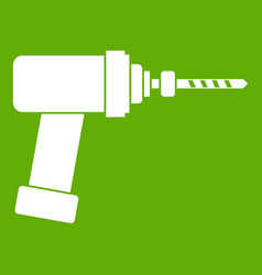 Medical drill icon green vector
