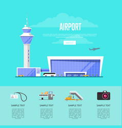 Modern international passenger airport advertising vector