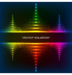 Neon equalizer pyramides vector image