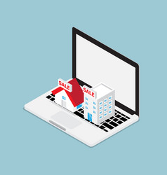 online real estate concept vector image
