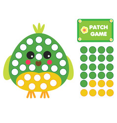 Patch game for children educational activity for vector