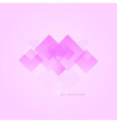 Pink Valentine Shape vector image