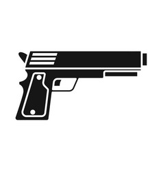 Pistol and caliber sign vector