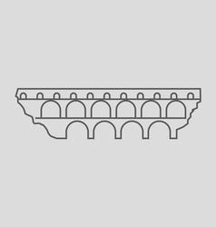 Pont du gard vector