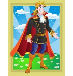 Prince on the Fairytale landscape vector image