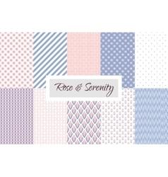 Rose quartz and Violet geometric seamless pattern vector