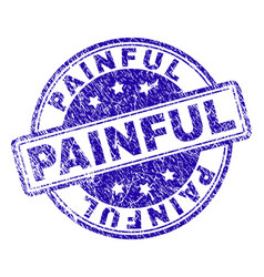 Scratched textured painful stamp seal vector