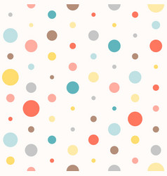 Seamless colourful polka dot pattern vector