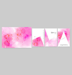 set art hand-painted watercolor background vector image