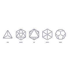Set mystic esoteric symbols sacred geometry vector