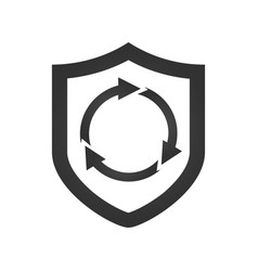 shield security concept with circle arrows v vector image
