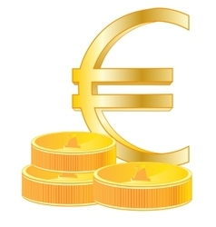 Sign euro and coins vector