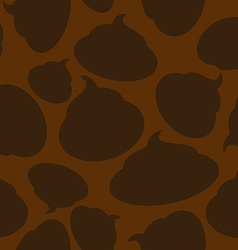 Silhouette turd seamless pattern Brown shit vector image