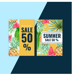 Summer invitation card design holiday party vector