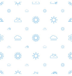 Sunset icons pattern seamless white background vector