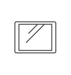tablet line icon or gadget concept vector image