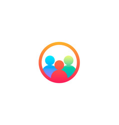 Teamwork group people logo vector