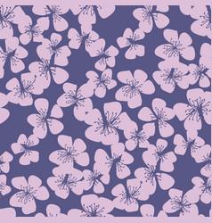 tender sakura cherry blossom seamless pattern vector image