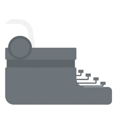 Typewriter with sheet of paper vector