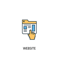 website concept 2 colored icon simple blue vector image
